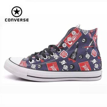 CREYONB Original Converse all star shoes men sneakers Hand-painted graffiti canvas shoes men h