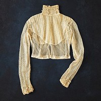 Womens Vintage Victorian Long Sleeve Blouse