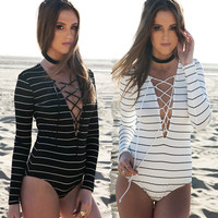 One Piece Bandage Fashion Summer Sexy Slim Bodycon Swimsuit Bathing Suit Bikini Beach wear Sunshine  = 4769185220