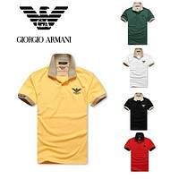 Hot Sale GIORGIO ARMANI MEN Polo Shirt 100% COTTON TOP