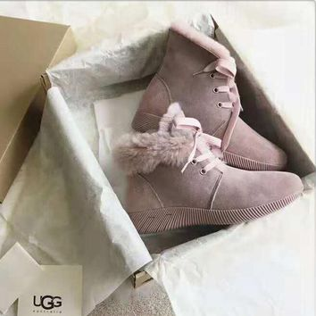 UGG 2018 winter new fashion trend plus velvet warm female short tube snow boots