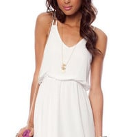 Square One Tank Dress in White :: tobi