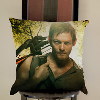 Daryl Dixon Act Pillow, Pillow Case, Pillow Cover, 16 x 16 Inch One Side, 16 x 16 Inch Two Side, 18 x 18 Inch One Side, 18 x 18 Inch Two Side, 20 x 20 Inch One Side, 20 x 20 Inch Two Side