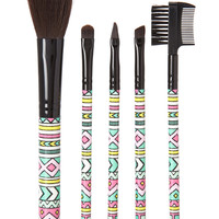 Tribal Print Cosmetic Brush Set