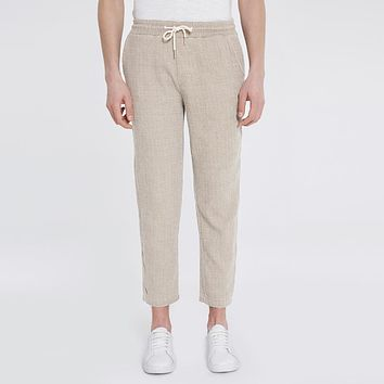 Men Cotton Pants Trousers Spring Summer Casual Straight Pants Male