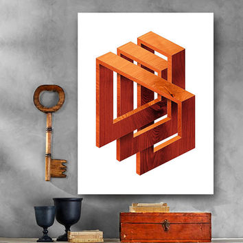 Optical Illusion - Large - 5 sizes - Printable Digital Download - Wall Office, Dorm, Home Decor, Poster, Card Making, Gift Idea - CP-851