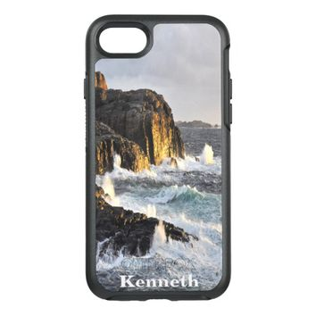 Ocean waves against the rocky shore OtterBox symmetry iPhone 7 case