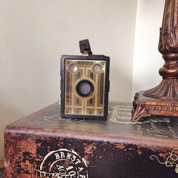 Vintage Kodak Gold Face Camera / Six-20 Brownie Junior Camera