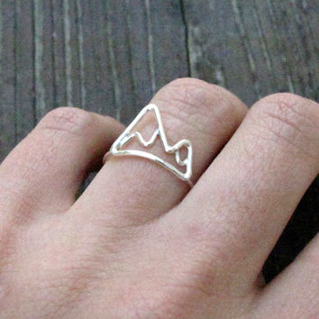Mountain Sterling Silver Ring