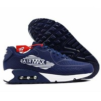Nike Air Max 90 Ultra 2.0 Essential Trending Men Casual Sneakers Sport Shoes Dark Blue