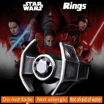 Star Wars Spacecraft Ring 316L Stainless Steel Unique Man's Cool Fashion Viking Movie Jewelry