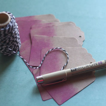 Kraft Tags - Pink Ombre