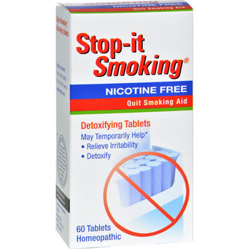 NatraBio Stop-It Smoking Detoxifying - 60 Tablets