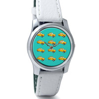 Quirky Ambassador Car Pattern Wrist Watch