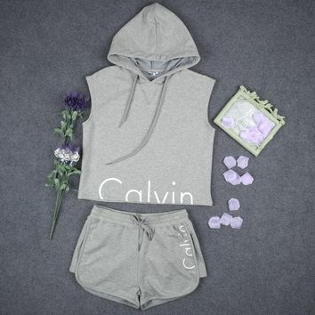 fashion calvin klein print shirt top hoodie sweatshirt shorts-1