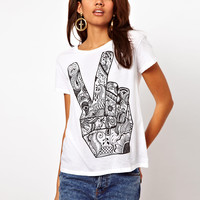 Illustrated People Peace T-Shirt