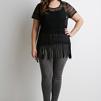 Fringed Lace Top