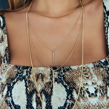 What You're Searching For Necklace: Gold