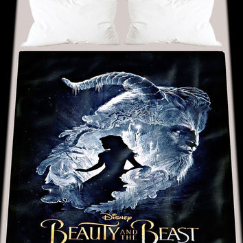 New Disney Beauty And The Beast Custom Soft Blanket High Quality 58 x 80 Inch