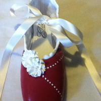 Red Velvet Cake ... Decorated Pointe Shoe