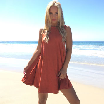 Rust To Riches Shift Dress