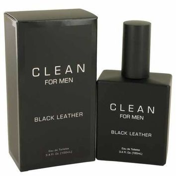 Clean Black Leather by Clean Eau De Toilette Spray 3.4 oz (Men)