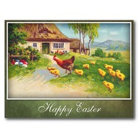 Hen, Chickens and Easter Eggs from Zazzle.com
