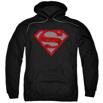 Superman - Elephant Rose Shield Adult Pull Over Hoodie