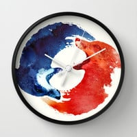 Ying yang Wall Clock by Robert Farkas