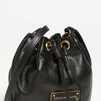 Women's MARC BY MARC JACOBS 'Too Hot to Handle - Mini' Leather Drawstring Crossbody Bag - Black