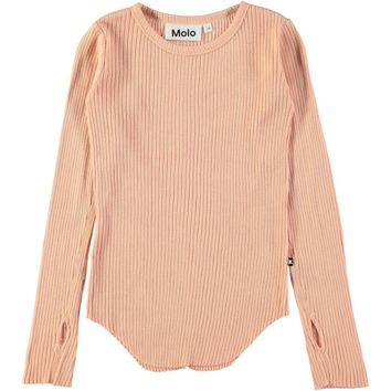 Molo Girls' Dusty Pink ROCHELLE Ribbed Top