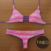 TINEO - Handmade Triangle Strap Top with Reversible Brazilian-Cut Bottom