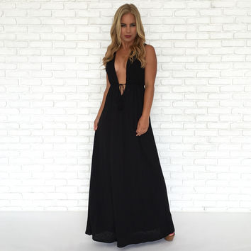 St. Tropez Maxi Dress In Black