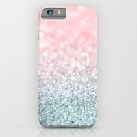 Aqua and Pink Glitter Gradient iPhone & iPod Case by heartlocked