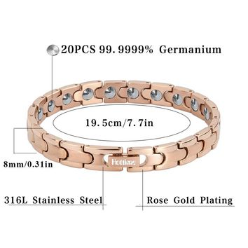 SGS authentication Export to Korea and Japan Bio Health Care Therapy Bracelet 20 PCS Full 99.99% Germanium Bracelets & Bangles