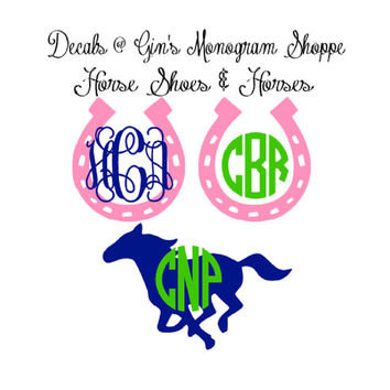 Monogram Decal 3 4 5 or 6 inch anchor turtle and more 2 colors