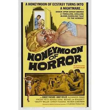 Honeymoon Of Horror Movie poster Metal Sign Wall Art 8in x 12in