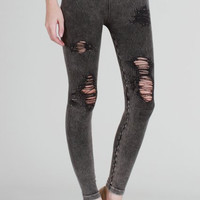 Destroyed Jeggings charcoal