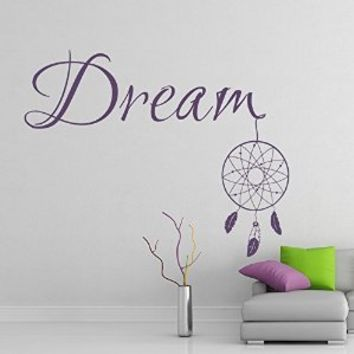 Wall Decal Dreamcatcher Dream Catcher Tribal Ethnic Native Feathers Art Protection Amulet India Vinyl Sticker Home Décor Living Room Yoga Studio Murals S82