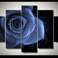 Blue Flower 5-Piece Wall Art