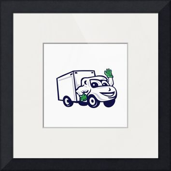 """Delivery Van Waving Cartoon"" by Aloysius Patrimonio"