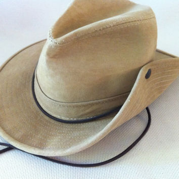 70fab7cdb4d 1990s Outback - Indiana Jones Hat- By Henschel - Made In USA