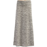 Full Tilt Space Dye Girls Maxi Skirt Charcoal  In Sizes