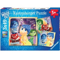 Disney Pixar Inside Out - Emotional Adventure - (3 x 49) Piece Jigsaw Puzzles