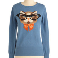 Cat Eyeglasses Sweater