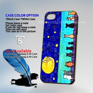 Cat Moon, Photo Hard Plastic iPhone 5 Case Cover