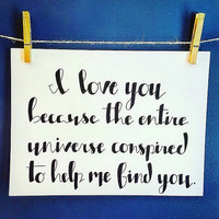 Custom Calligraphy Quote, Unframed