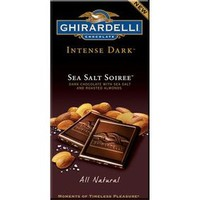 Ghirardelli Intense Dark Chocolate 3.5-Ounce Bars - Sea Salt Soiree: 1