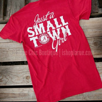 JUST A SMALL TOWN GIRL TEE - ALABAMA