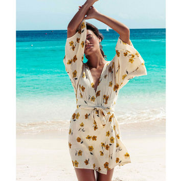RELAX ON HIGH PLUNGING MINI DRESS